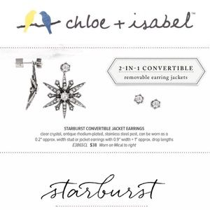 Chloe + Isabel Jewelry - 🆕 Starburst Convertible Jacket Ears c+i E386SCL